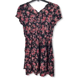 Forever 21  Floral V-neck Dress sz S